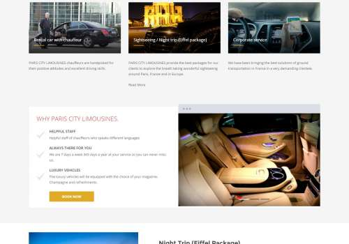 Paris city limousines ! Taxi Booking Website