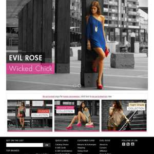EvilRose – Prestashop eCommerce Web Design
