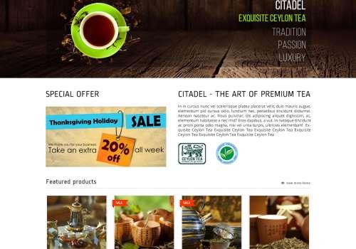 Citadel  – Tea Store Woocommerce